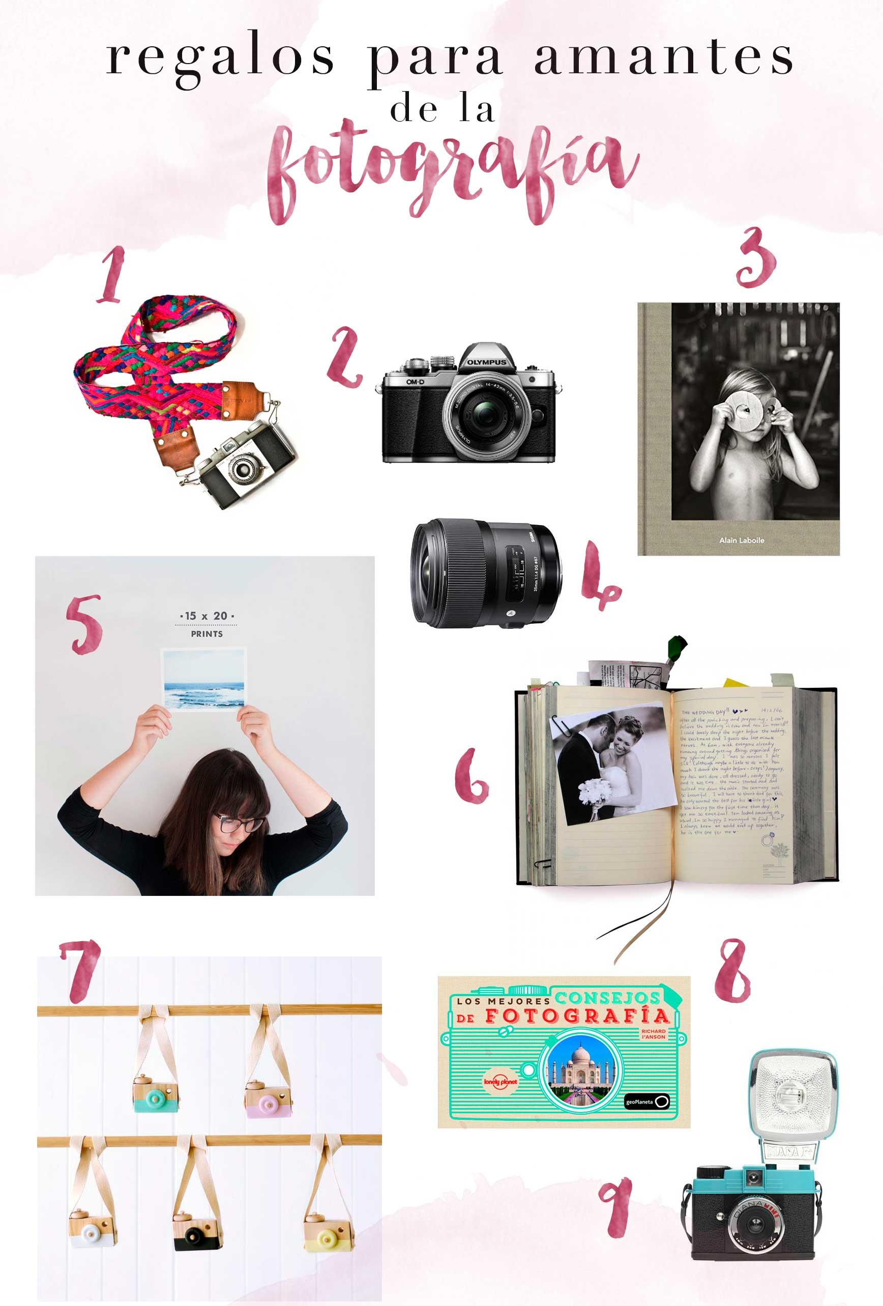 Wishlist de regalos para amantes de la fotografía