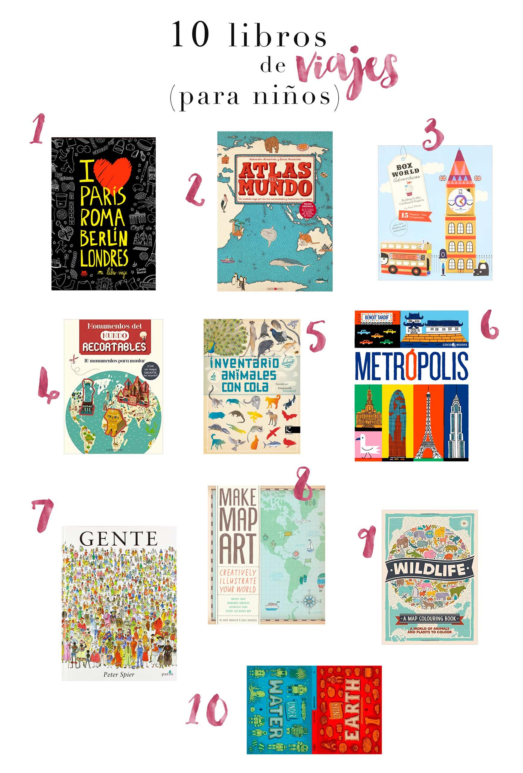 10 libros de viajes para niños