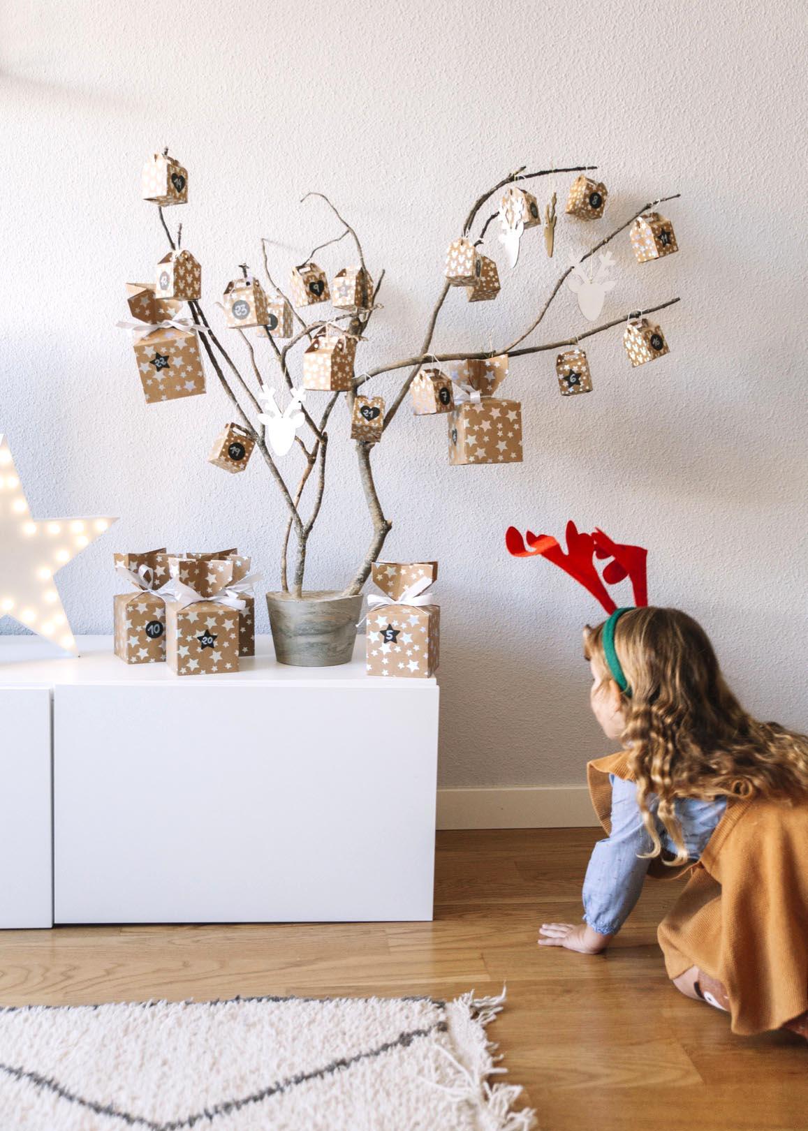 DIY: Árbol Calendario de Adviento