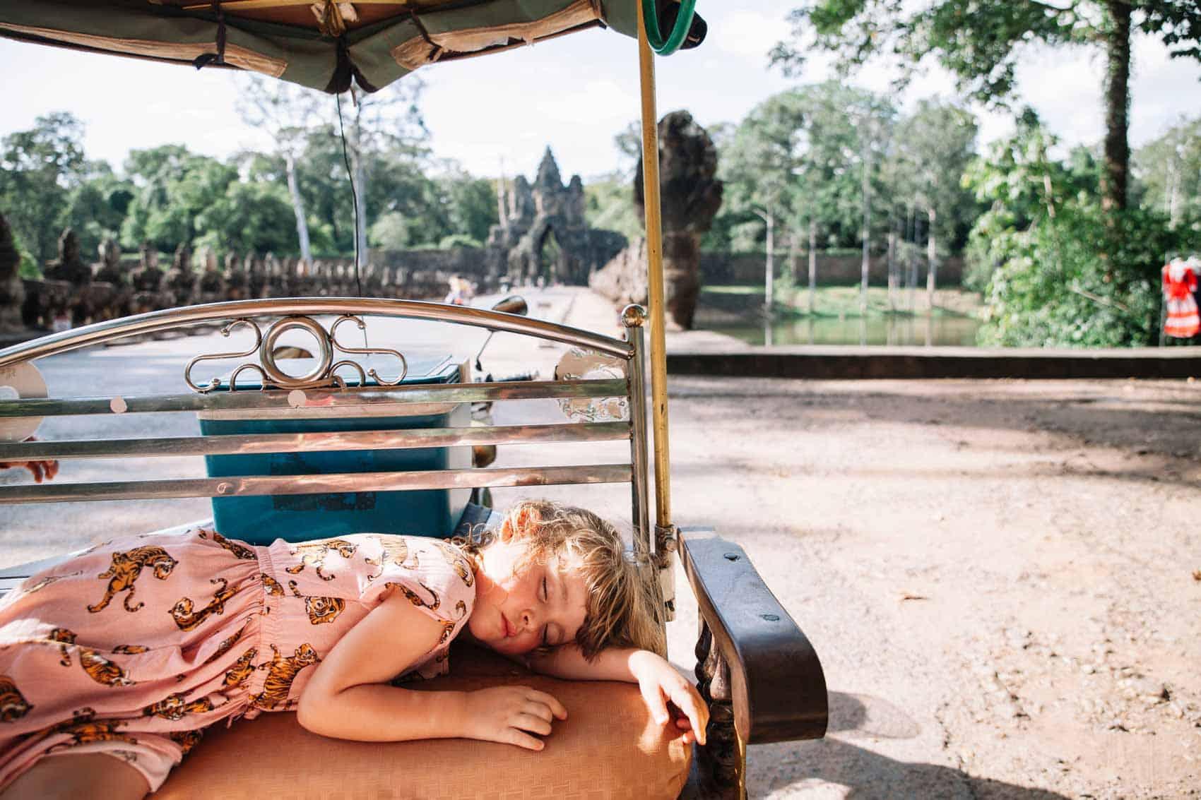 Moverse en Camboya y Vietnam con niños