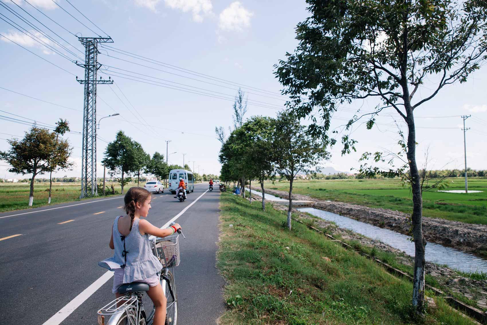 Moverse en Vietnam con niños