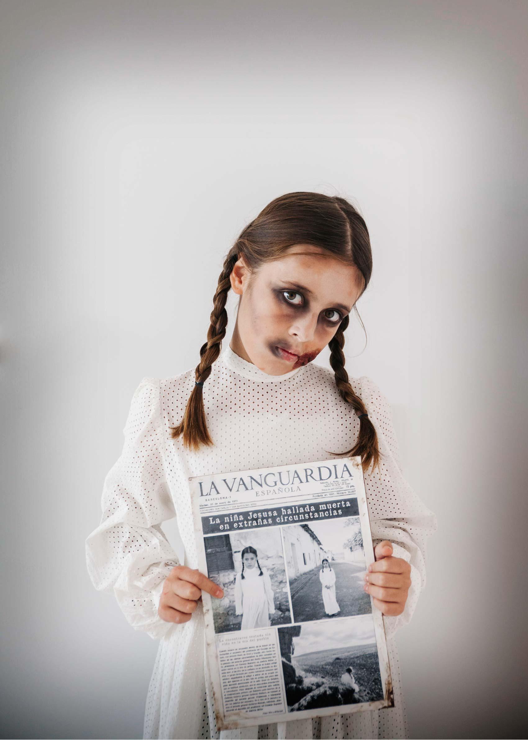 DIY Halloween: Un Terrorífico disfraz de niña fantasma