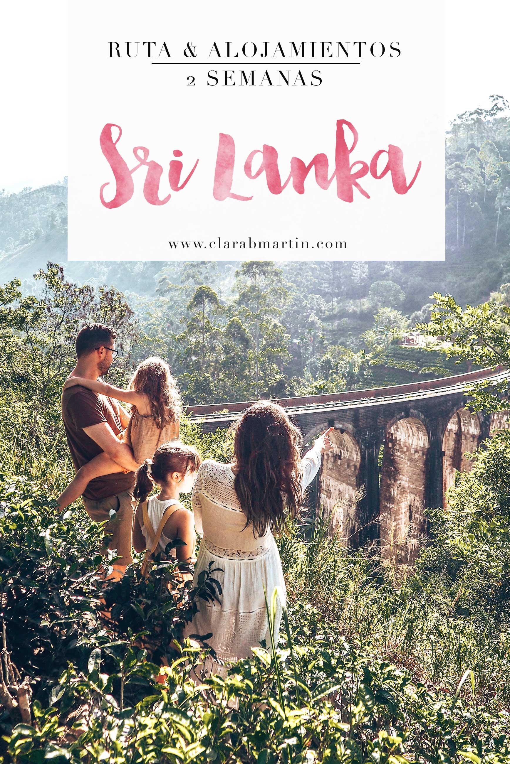 Viaje a Sri Lanka - Itinerario de viaje