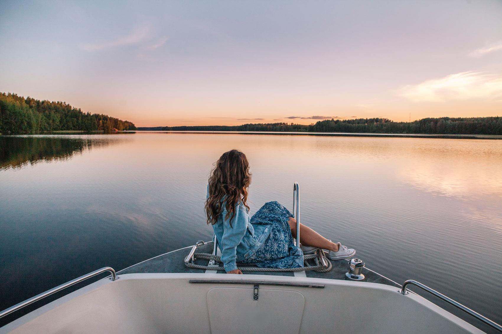 Lago Saimaa Finlandia