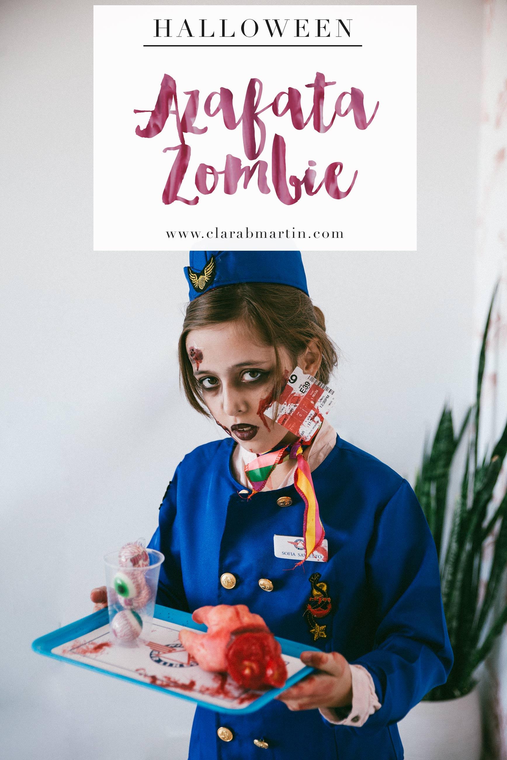 Disfraz Halloween azafata zombie