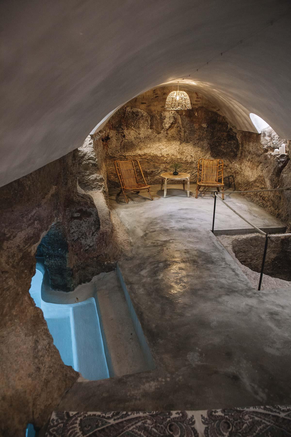 piscina cueva casa rural El Bálsamo, Belmonte