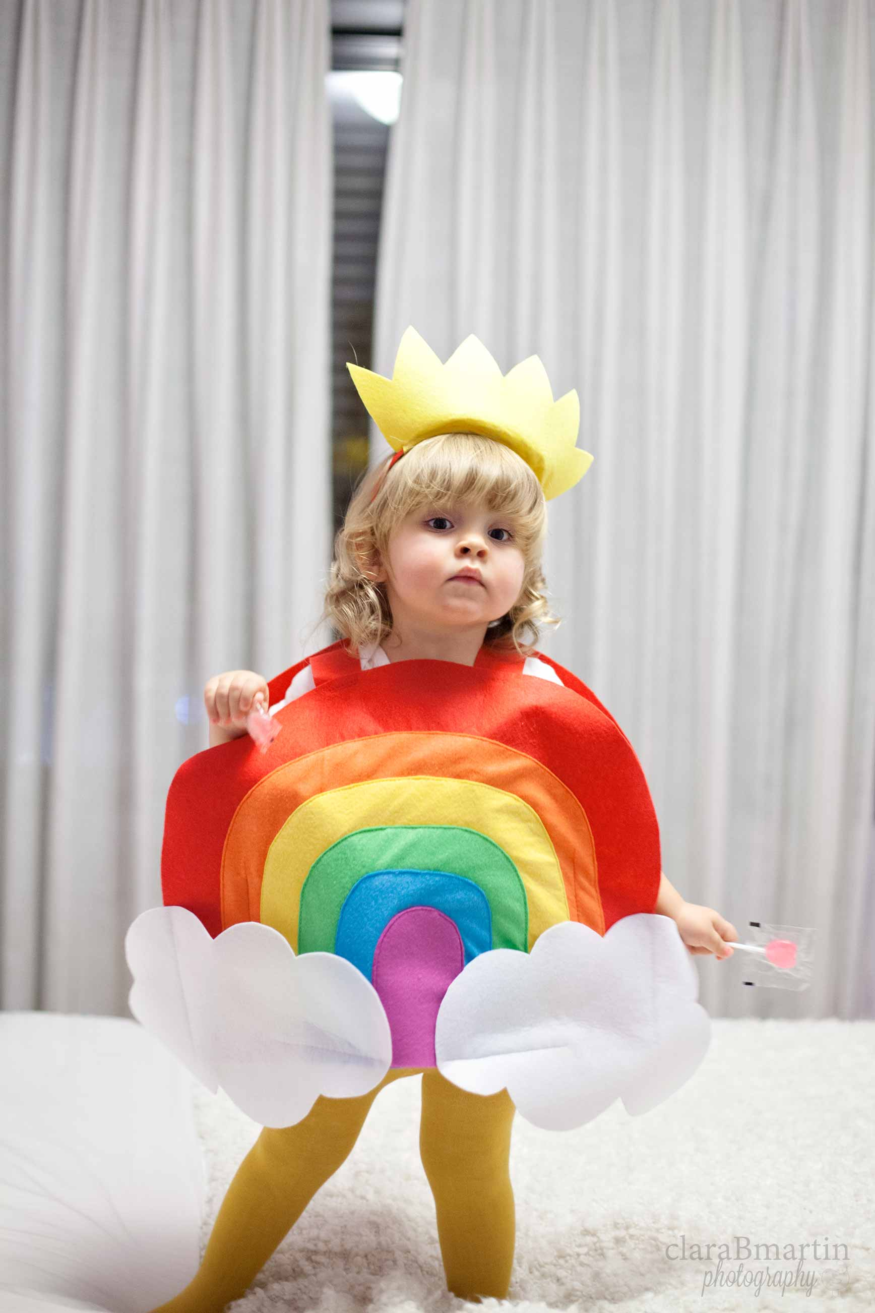 Un disfraz de arcoíris para mi bebé arcoíris