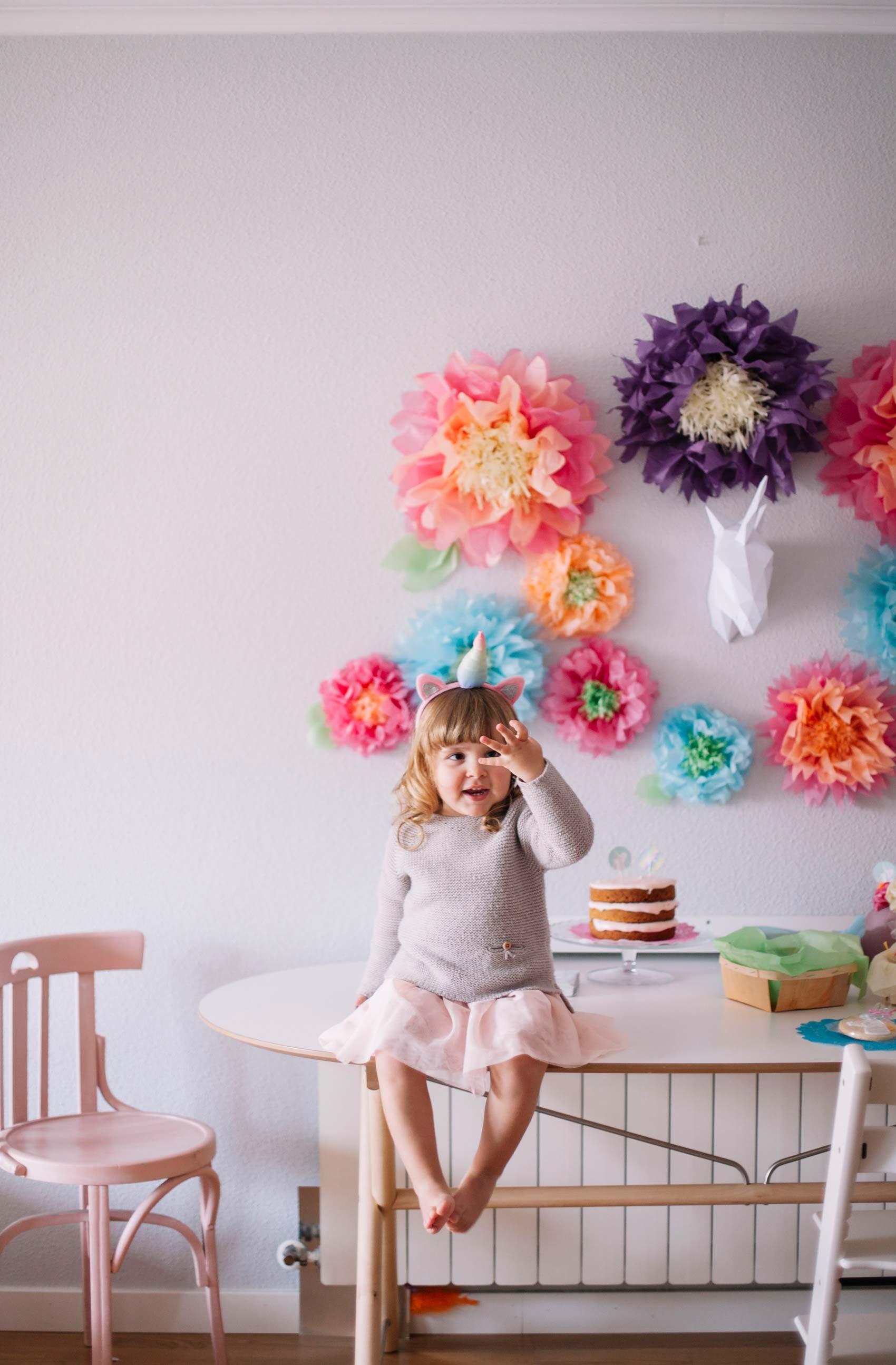 Una colorida fiesta de unicornios