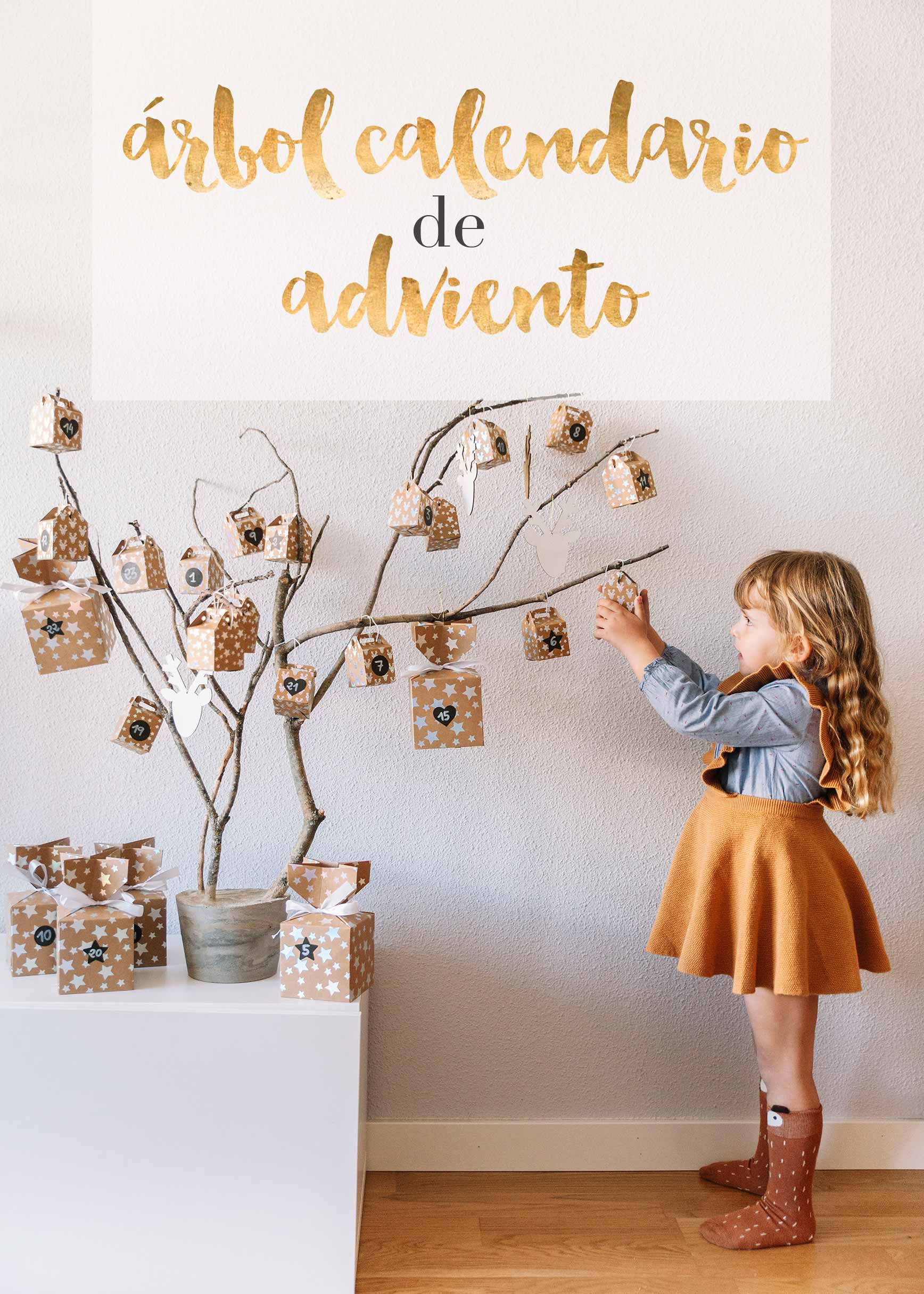 Arbol calendario de Adviento