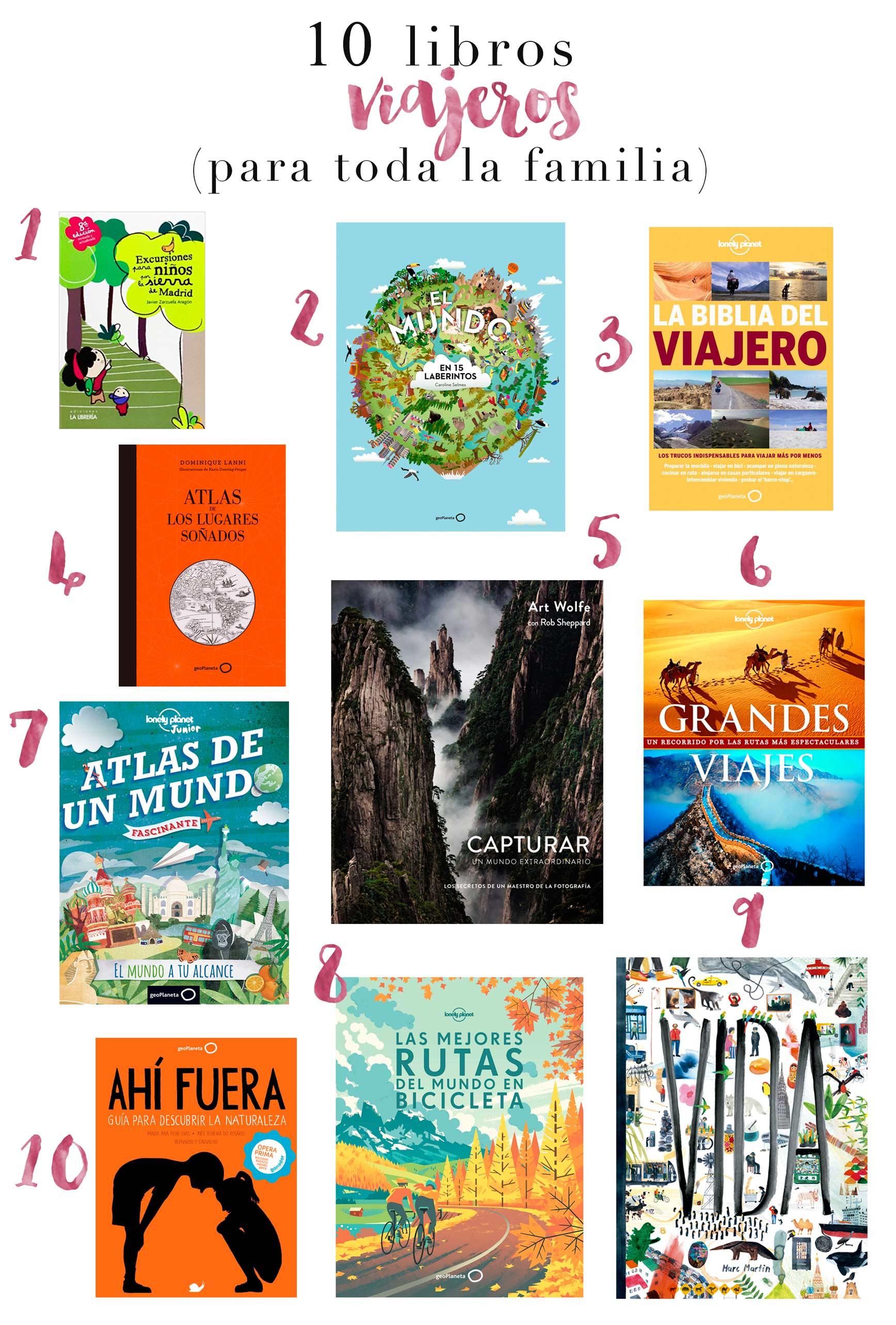 10 Libros Viajeros para toda la familia