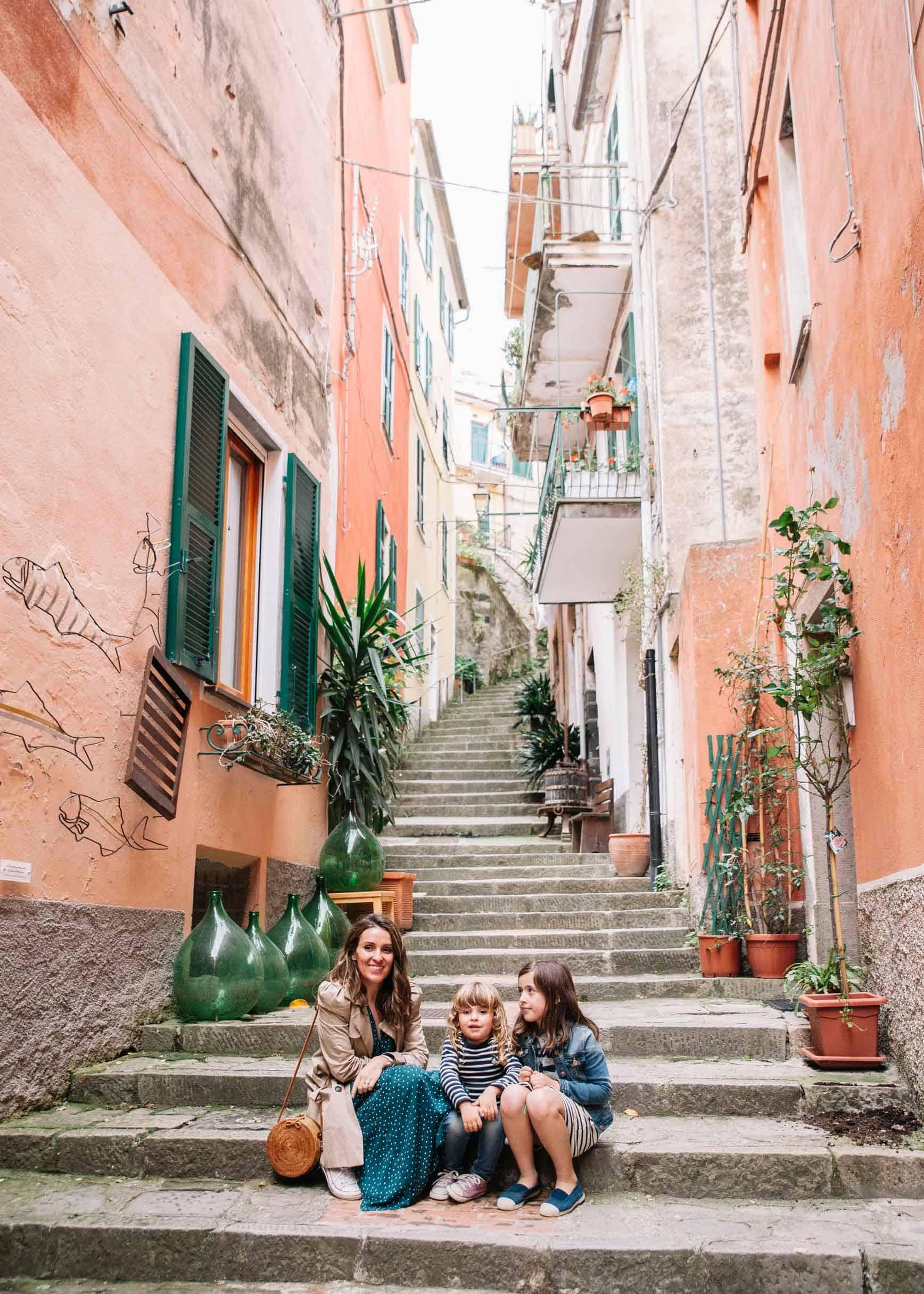 Visitar Cinque Terre con niños