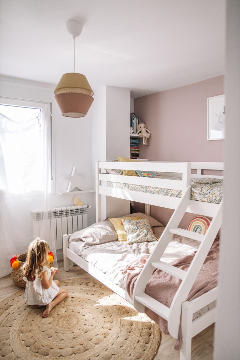 Nuestra nueva habitación infantil con literas