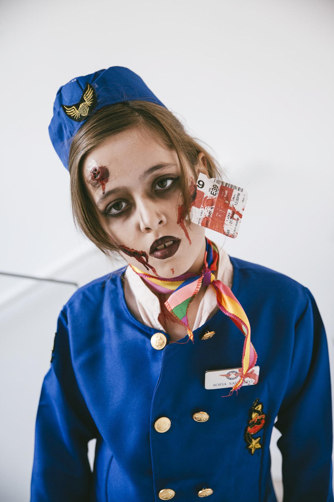 maquillaje azafata zombie