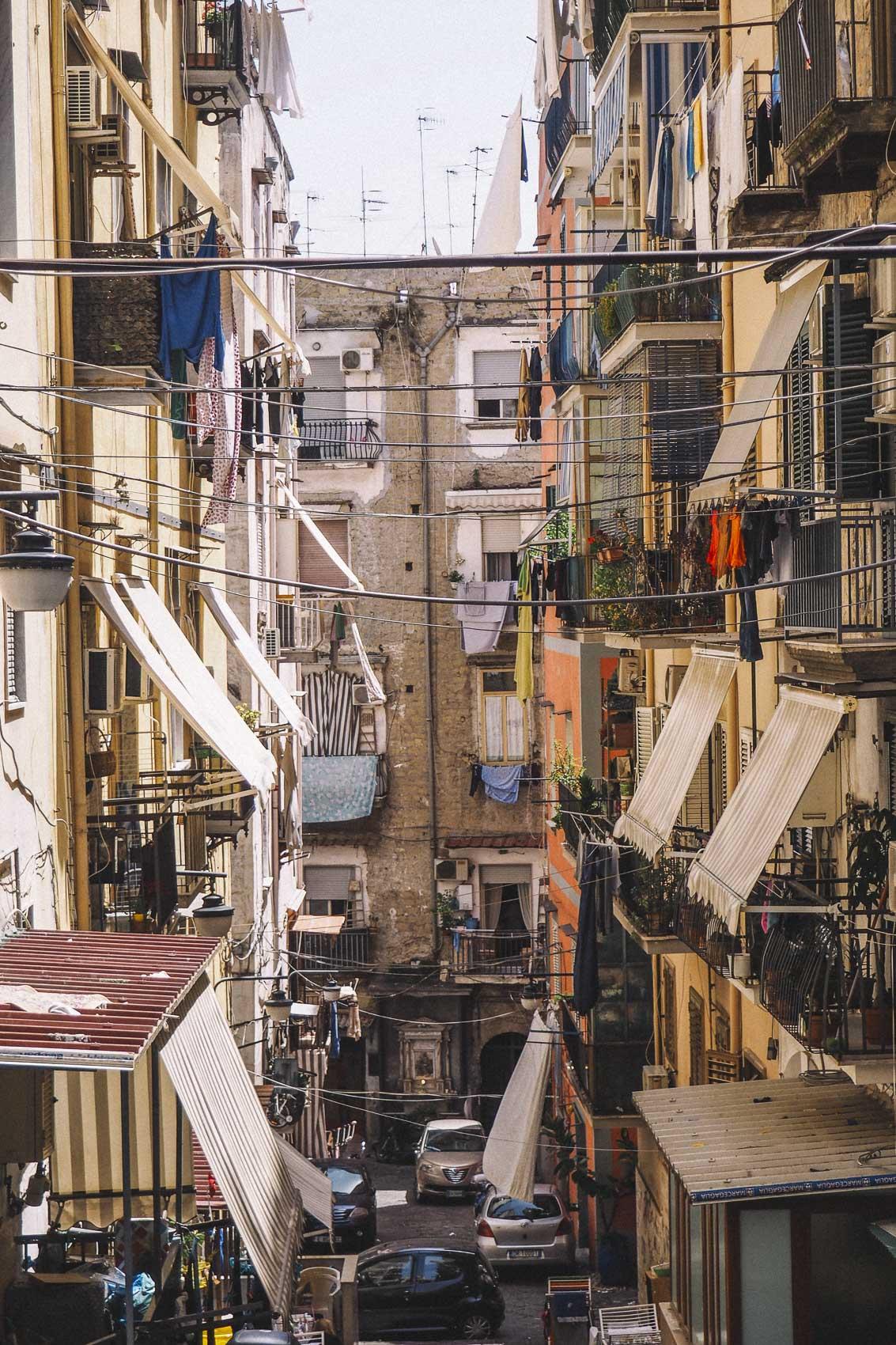 El quartiere spagnoli en Nápoles